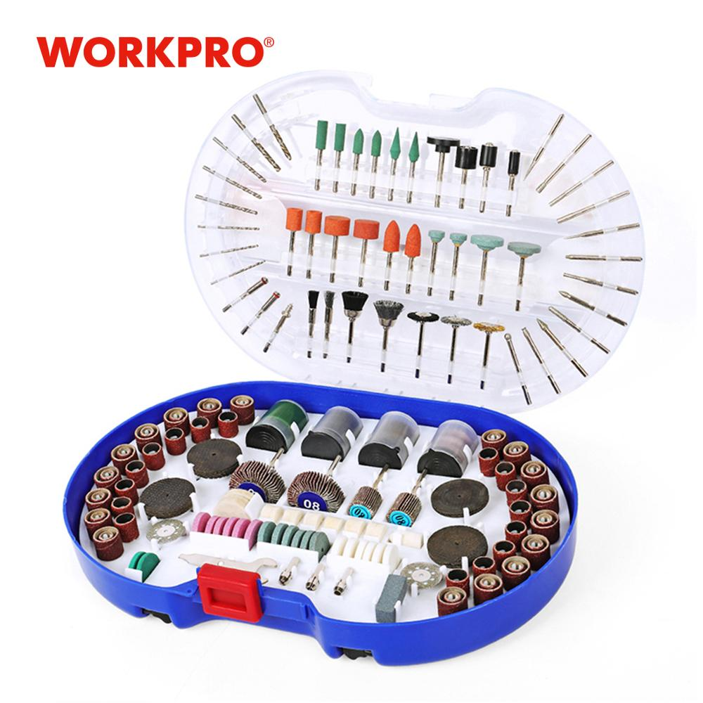 WORKPRO 276PCS Rotary Tool Accessories Rotary Tool Bits Power Tool Accessories for Grinding Polishing Tools for working Wood