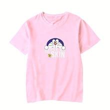 Anime funny Harajuku Top T-shirt Doraemon women clothing short sleeve t-
