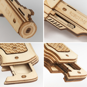 Image 5 - Robotime ROKR Revolver Gun Model Toys 3D Wooden Puzzle Games Crafts Gift For Children Kids Boys Birthday Gift