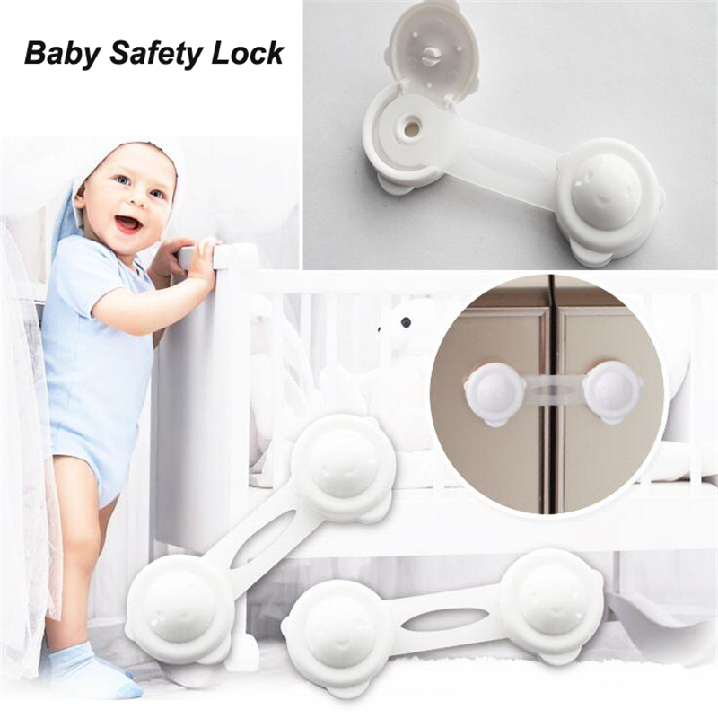 2pcs/set New Style Kitchen Cabinet Cupboard Slide Lock Child Baby Door Handles Safety Sliding Lock Safe Furniture Protect Lock