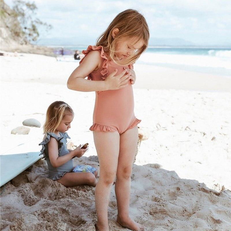 KID'S Swimwear GIRL'S Kids 1-3 Years Old One-piece Cute Baby Infant Princess Tour Bathing Suit Girls Small CHILDREN'S Swimwear