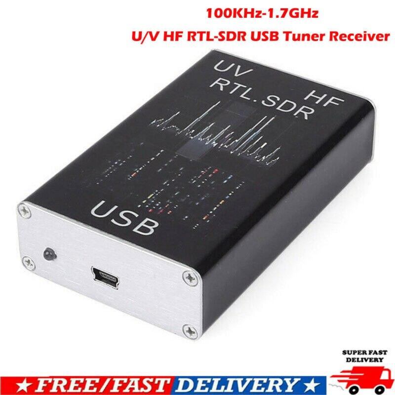Radio Receiver 100KHz-1.7GHz Full Band UV HF RTL-SDR USB Tuner Receiver/ R820T + 8232 Radio