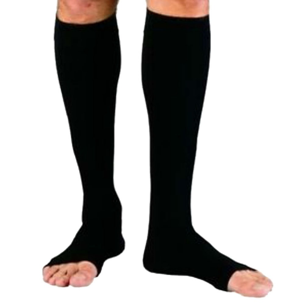 New Women Zipper Compression Socks Zip Leg Support Knee Sox Open Toe Sock S/M/XL Y1 Dropshipping