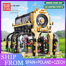 Bricks Toys Building-Blocks Led-Light-Kits Mould King City Christmas-Gifts Street-View