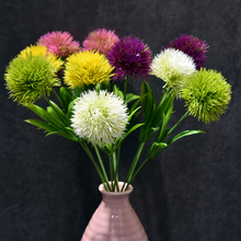 Artificial Flowers Real Touch Dandelion Fake Plants Plastic Flowers For Home Decoration Multicolor Wedding Party Fake Flowers