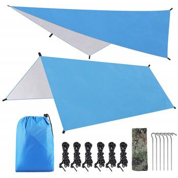 10 #215 10 stóp Rain Fly hamak plandeka na namiot dla 2000PU wodoodporna ochrona-duży baldachim jest przenośny i zapewnia idealne schronienie tanie i dobre opinie 1000-1500mm Budowa w oparciu o potrzeby Namiot dla 3-4 osób