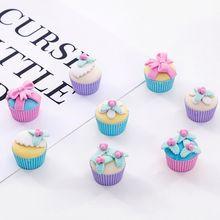 4pcs/pack Sweet Food Dessert Flower Cake Rubber Eraser Pencil Erasers Stationery Student Children Kids Gift