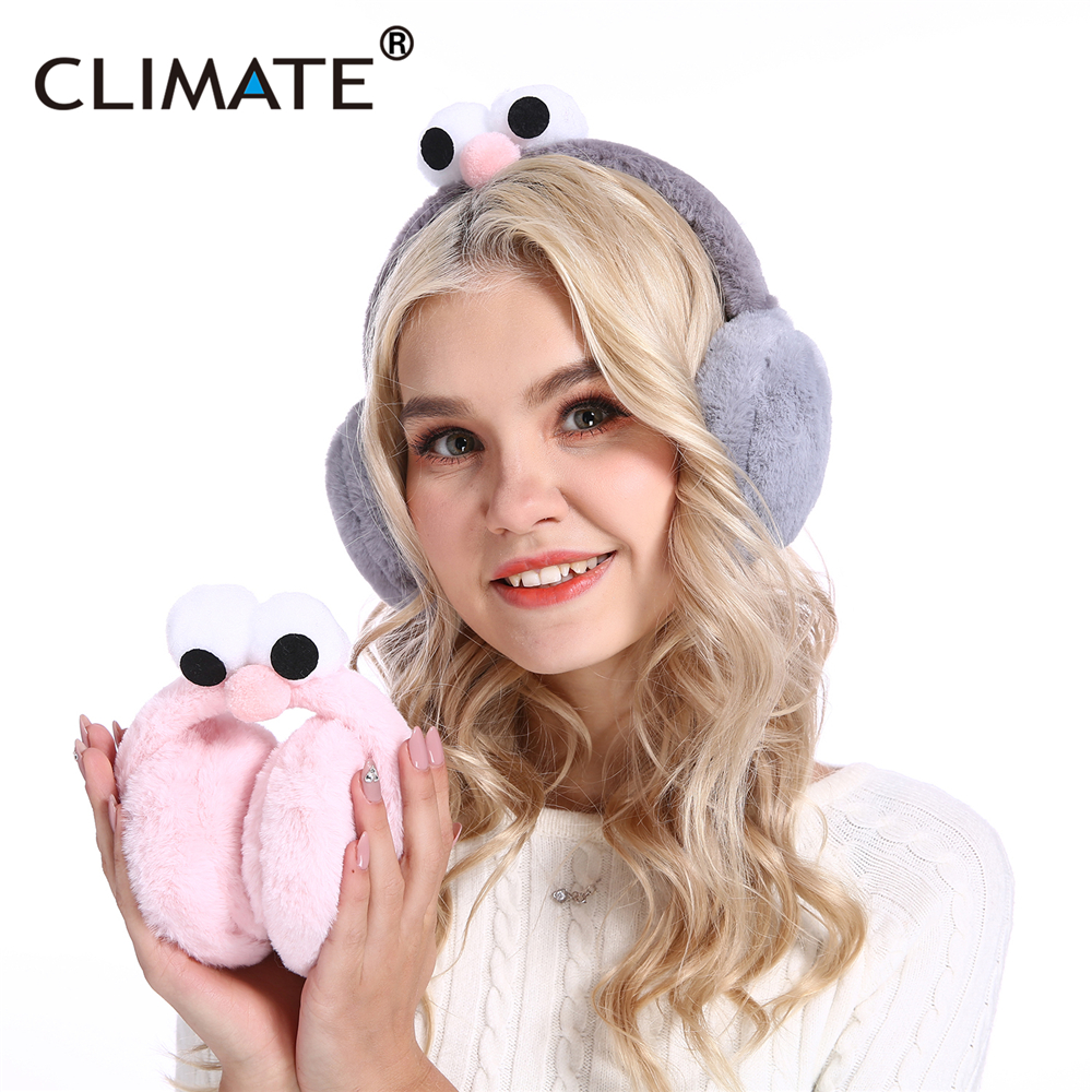 CLIMATE Women Girl Cute Earmuffs Foldable Ear Muff Cover Earmuffs Folding Lovely Ear Muff Muffs For Women Teenager Girls