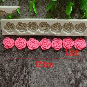 Image 1 - Gül çiçek silikon kalıp fondan kalıp kek dekorasyon araçları çikolata Gumpaste kalıp pişirme araçları