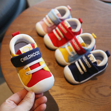 2019 Spring Infant Toddler Shoes Girls Boys Casual Canvas Shoes Soft Bottom Comfortable Non-slip Kid Baby First Walkers Shoes cheap WENWENDEXINGFU Patch Spring Autumn Hook Loop patchwork Unisex Fits true to size take your normal size