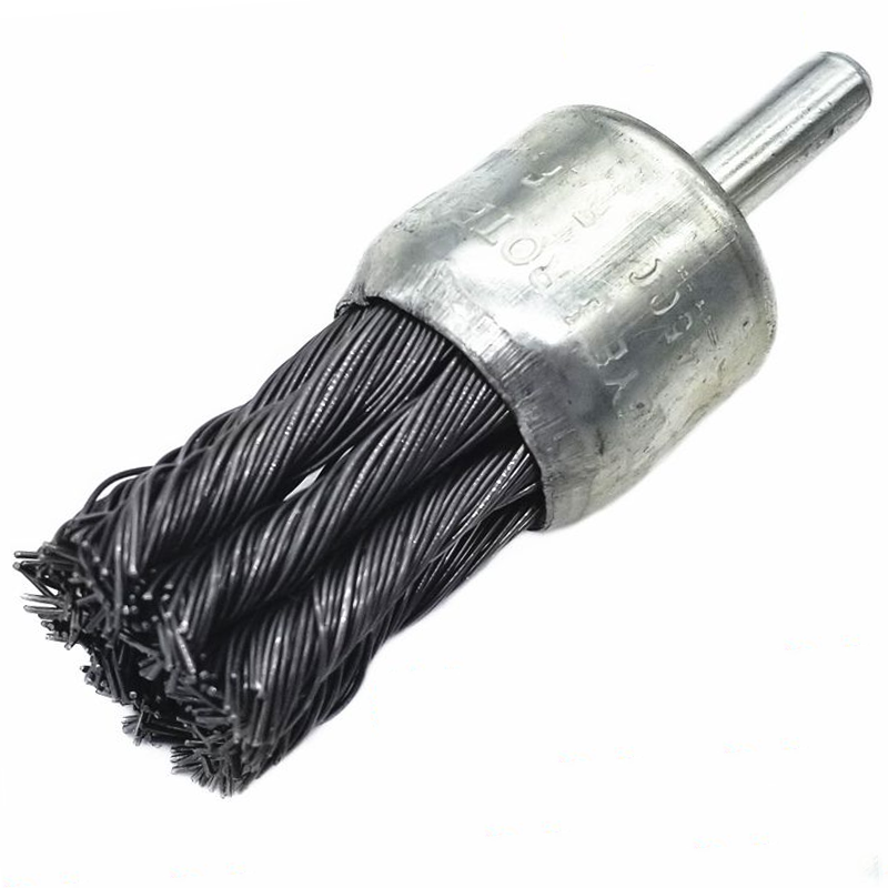1pcs 25mm Stainless Steel Wire Knot End Brush With 1/4