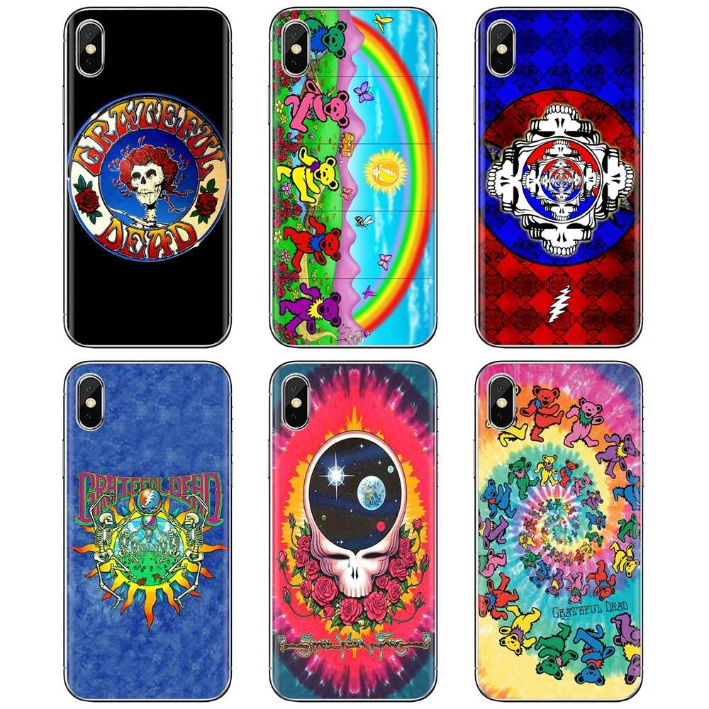 Soft Bag Case Pretty Band Music Band Grateful Dead For iPhone 11 Pro 4 4S 5 5S SE 5C 6 6S 7 8 X 10 XR XS Plus Max For iPod Touch