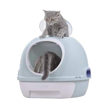 Fully Enclosed Cat Litter Toilet Deodorant Spill-proof Supplies Drawer Type Super Top-in Shovel Excrement Cute Cat Litter Toilet