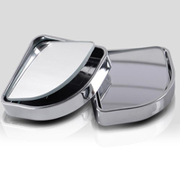 2pcs Car 360 Degree half angle Blind Spot Mirror auto accessories adjustable Wide Angle Blindspot Rearview Parking Mirror|Convex Mirror| |  -