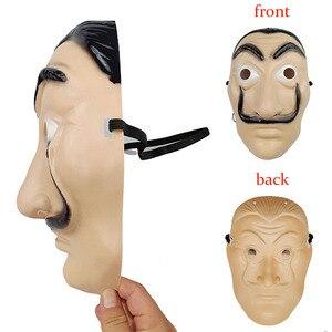 Image 2 - 1pcs Salvador Dali Plastic Mask Paper House La Casa De Papel Cosplay Decoration Masquerade Halloween Mask Funny Tools