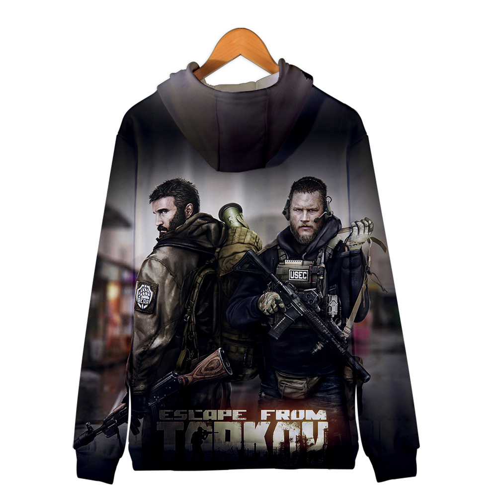 2019 Escape from Tarkov 3D Zipper Hoodies Men/Women Harajuku Style Hot Game Hoodies Escape from Tarkov Zipper Sweatshirt 1