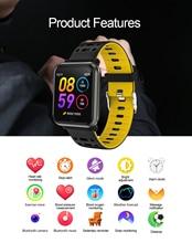 P11 กีฬาสมาร์ทนาฬิกา Heart Rate Monitor ความดันโลหิตวัด P68 นาฬิกากันน้ำสำหรับ IOS และ Android