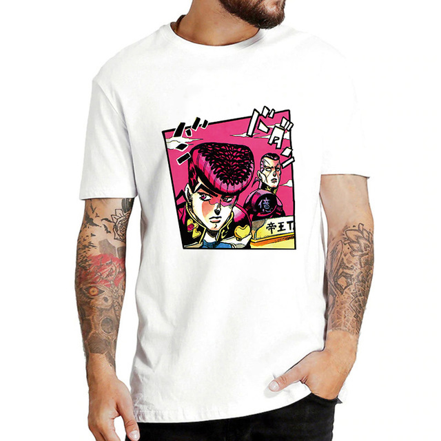 Jojo's Bizarre Adventure Japanese Anime T Shirt Men Harajuku Streetwear T-shirt Funny Cartoon 90s Tshirt Cool Top Tees Male 2