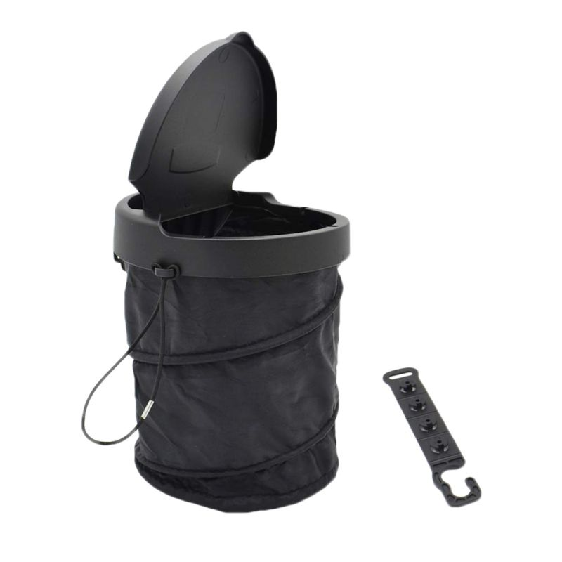 2019 Car Portable Trash Bin Can Folding Garbage Dustbin Holder Rubbish Case Auto Organizer Storage Bag Car Accessories