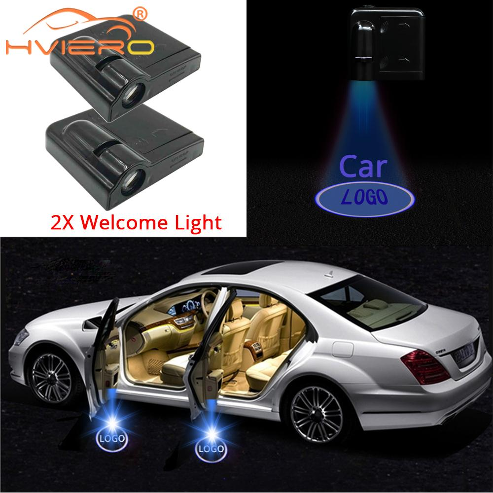 4 pcs Wireless Car Projection for All vehicles ,Hyundai Universal LED Projector Door Shadow Light Welcome Light Laser Emblem Logo Lamps Kit