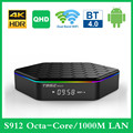 T95z плюс Смарт ТВ коробка 4K QHD 2G/16G Android 7,1 ТВ коробка S912 Octa Core 3G 32G Декодер каналов кабельного телевидения двухъядерный процессор Wi-Fi 1000 м T95ZPLUS ...