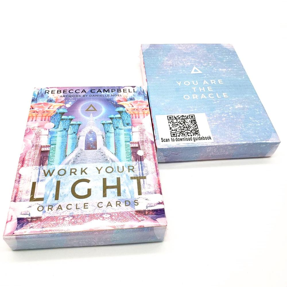 44 Pcs Oracle Tarot Cards Sheets Work Your Light Oracle Card Board Deck Games Palying Cards Game Entertainment