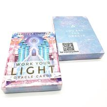 44 Pcs Oracle Tarot Cards Sheets Work Your Light Oracle Card Board Deck Games Palying Cards Game Entertainment карты оракул u s games systems oracle cards dream