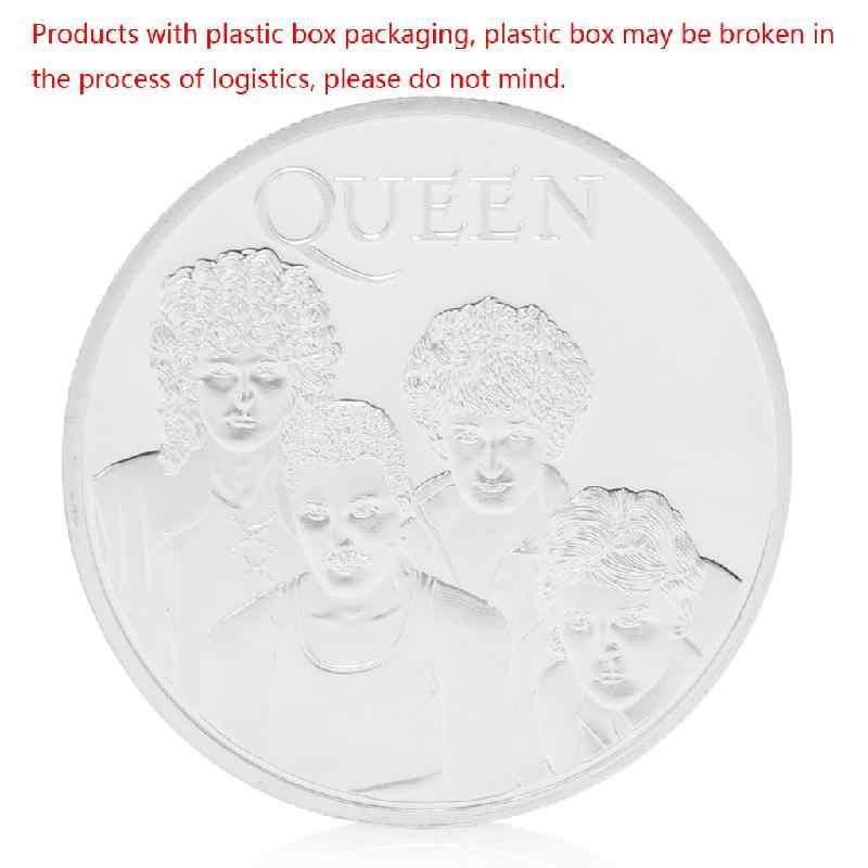 Koningin Britse Rock Band Verzilverd Herdenkingsmunt Token Collectible Gift