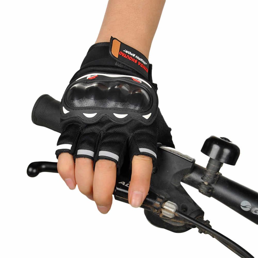 ホット販売ハーフフィンガーオートバイ手袋モトクロスレース保護オフロード乗馬スクーター Motocicleta Guantes モト手袋 guante