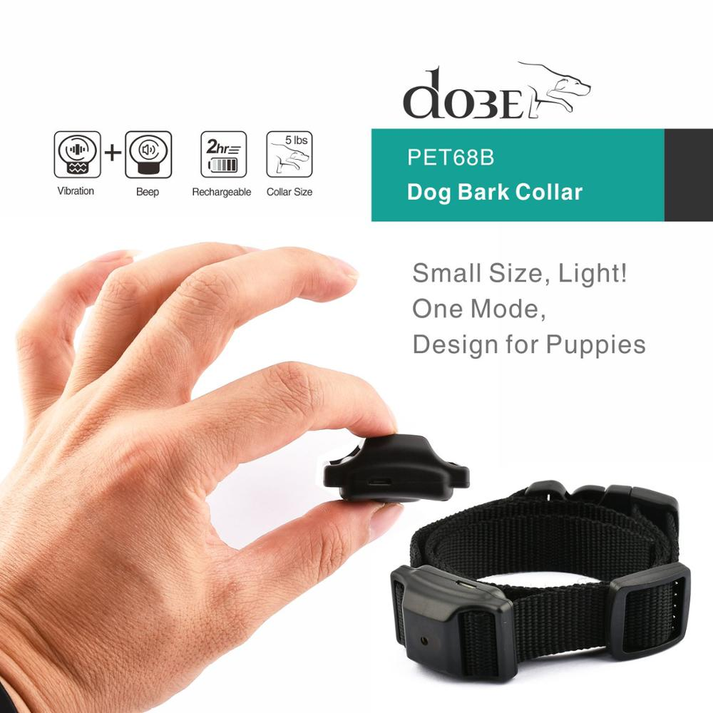 Dog Bark Collar Pet Product Bark Stop Automatic Anti Bark Control Collar Electric No Shock Pet Dog Puppy Training Necklace 1