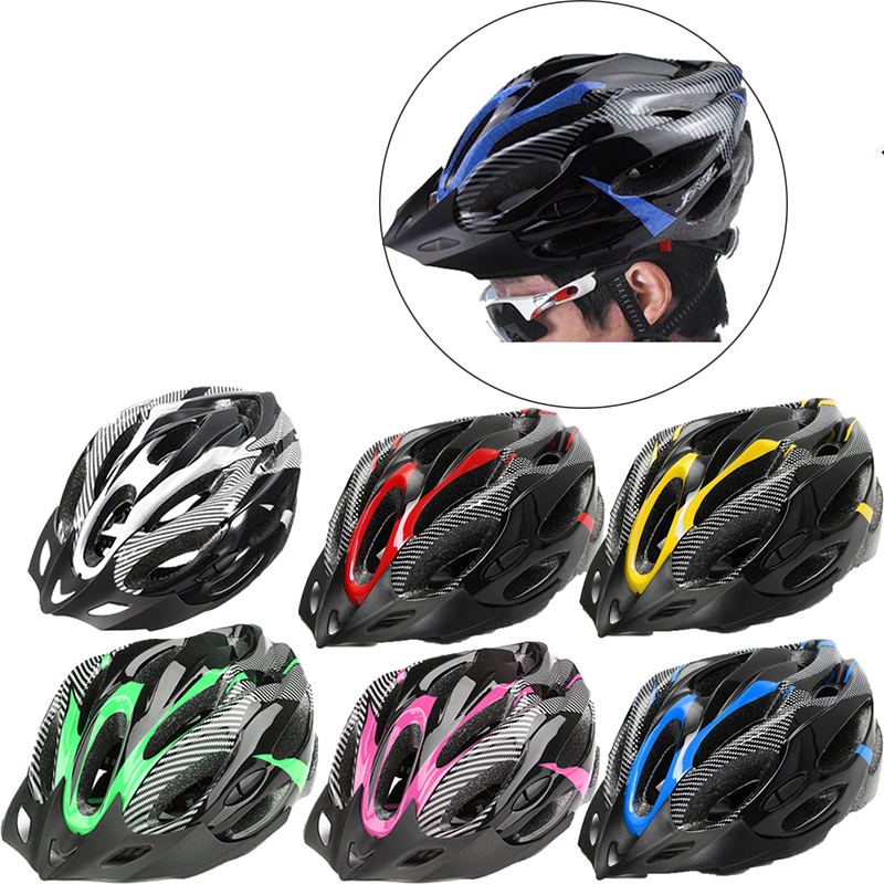 Bicycle Helmet Cycling MTB Safely Cap Mountain Road Bike Sports Safety Helmet Unisex Head Protector Adjustable Bike Helmets