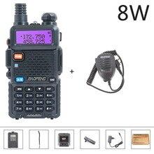 Baofeng UV 5R Walkie Talkie Two Way Radio 8W Walkie talkie Hunting Radio Station 10KM 128CH Dual VHF/UHF uv 5r Baofeng