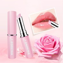Lip Balm Rose Moisturizing Nourishing Plumper Lines Natural Extract Makeup Lipstick