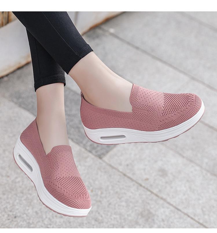 QJ 869-2020 New Spring Autumn Women's Flat Shoes Comfortable Nurse Sneakers-7