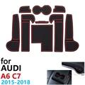 Противоскользящие резиновые чашки подушки двери паз коврик для Audi A6 C7 A6 4G RS6 S6 S line RS 6 2015 ~ 2018 2017 аксессуары коврик для телефона
