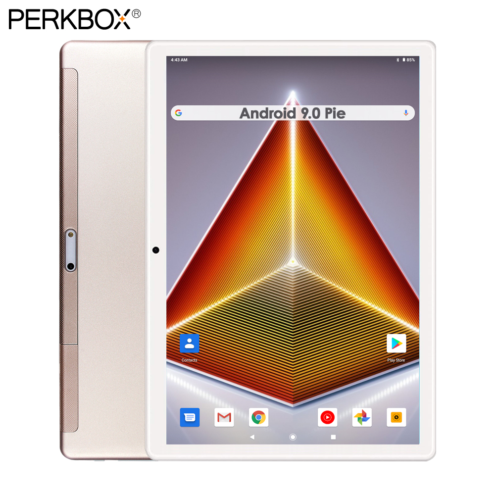 2020 Newest 10 Inch Tablet Android 9.0 Pie 32GB ROM HD WebCam WiFi Bluetooth Google Play Store Youtube Facebook Media Pad