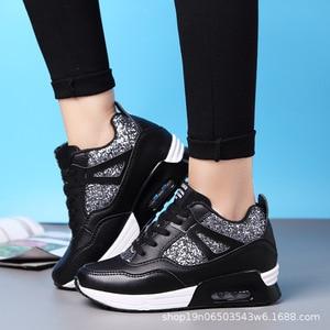 Image 5 - COWCOM Primavera delle Donne Elevati Scarpe Cuscino Daria Runningg Scarpe Traspirante paillettes spessa suola di sport scarpe casual