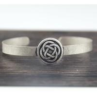50pc Men Bangle Bracelet Celtics Cuff Bracelet Wrist Band Celtics Jewelry For Gift Wholesale