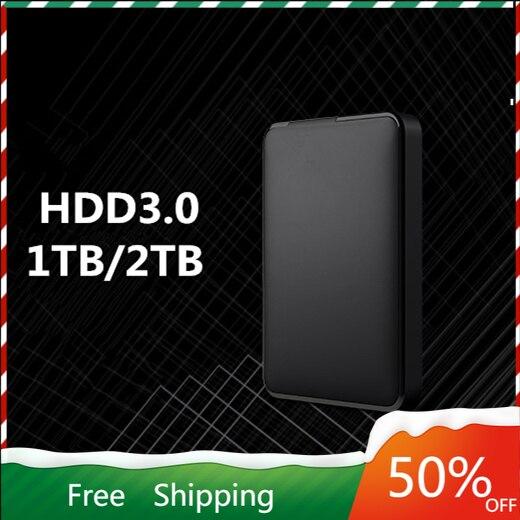 Портативный внешний жесткий диск USB 3,0, 1 ТБ, 2 ТБ HDD, внешний жесткий диск HD для ноутбука/Mac