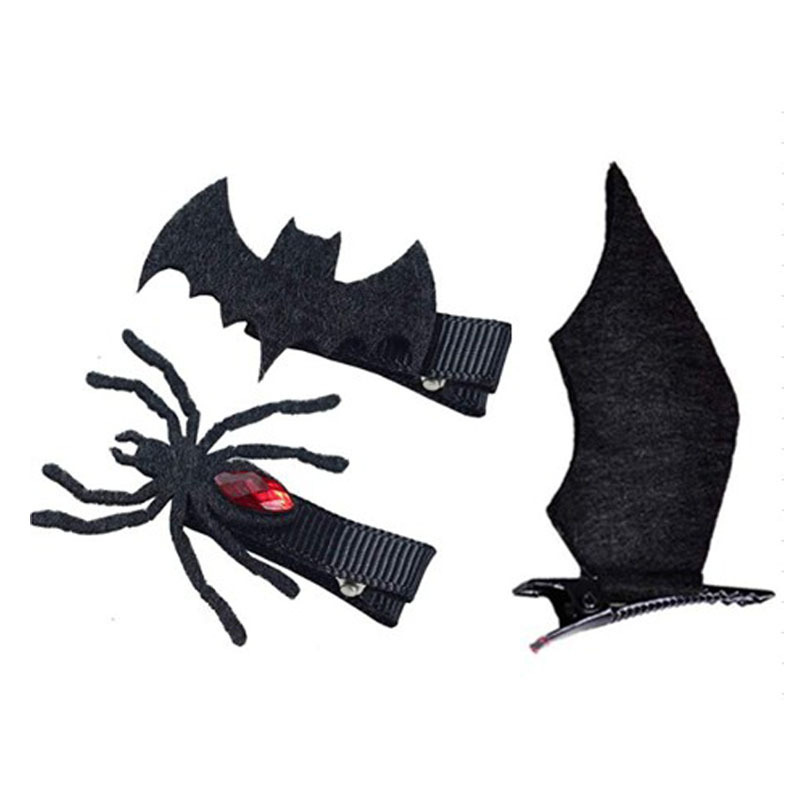 Halloween Devil Bat Wings Small Hair Clips Headbands Hairpins Hair Accessories