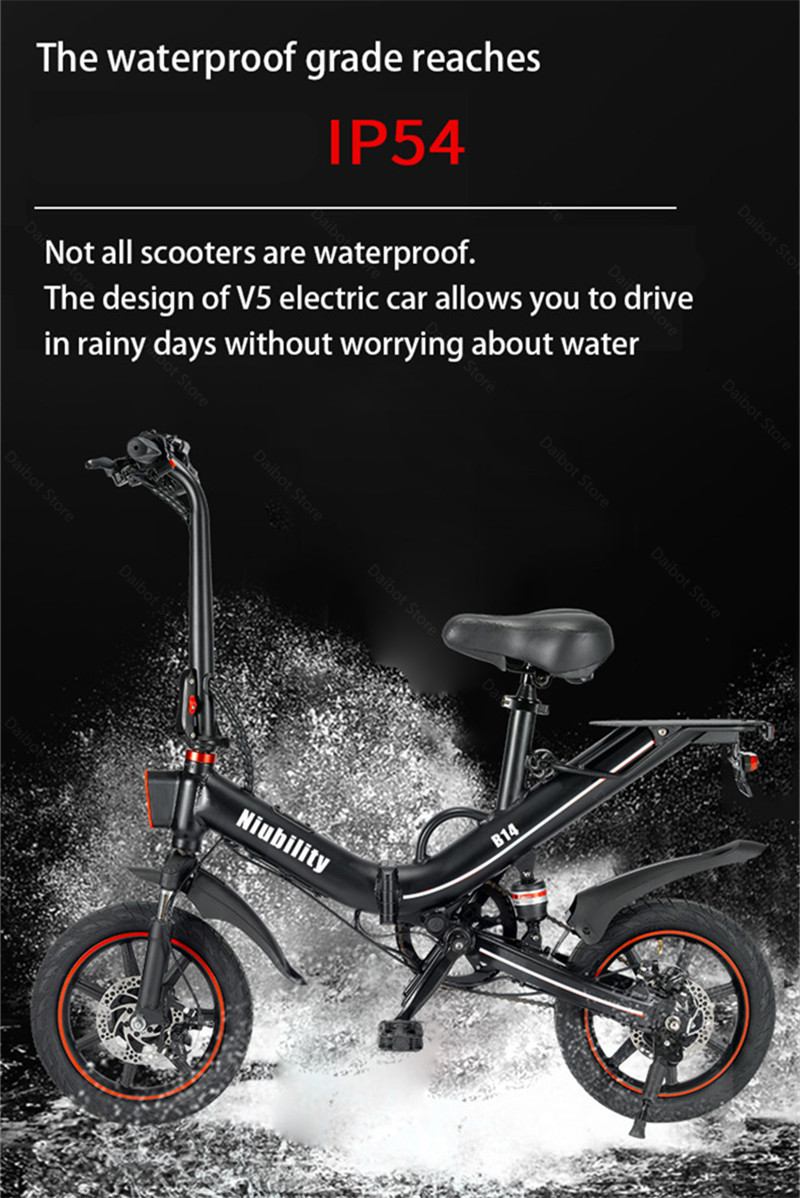 EU Stock Folding Electric bike 2 Wheels Electric Bicycles 14 Inch 400W 48V 15Ah Adult Electric Bicycle With Double Brake (12)