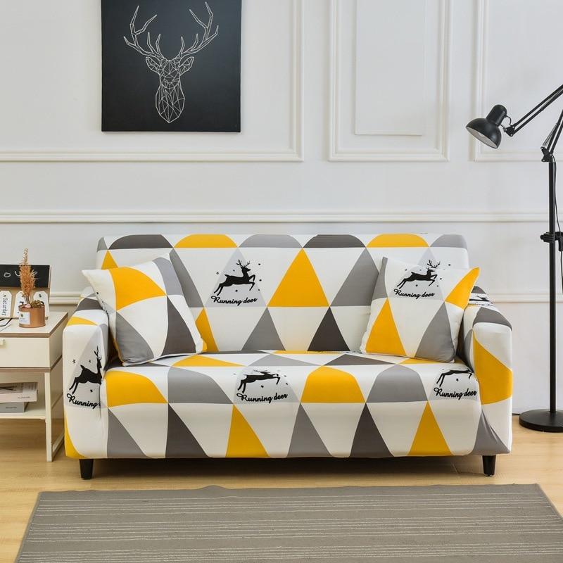 Купить эластичный растягивающийся чехол для дивана в гостиную l образной