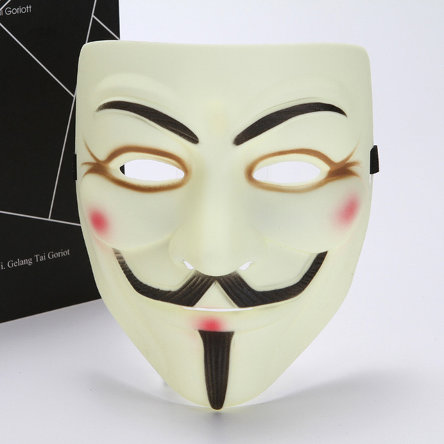 Party cos Masks V for Vendetta adult Mask Anonymous Guy Fawkes  Halloween Masks Adult Accessory Party Cosplay 3