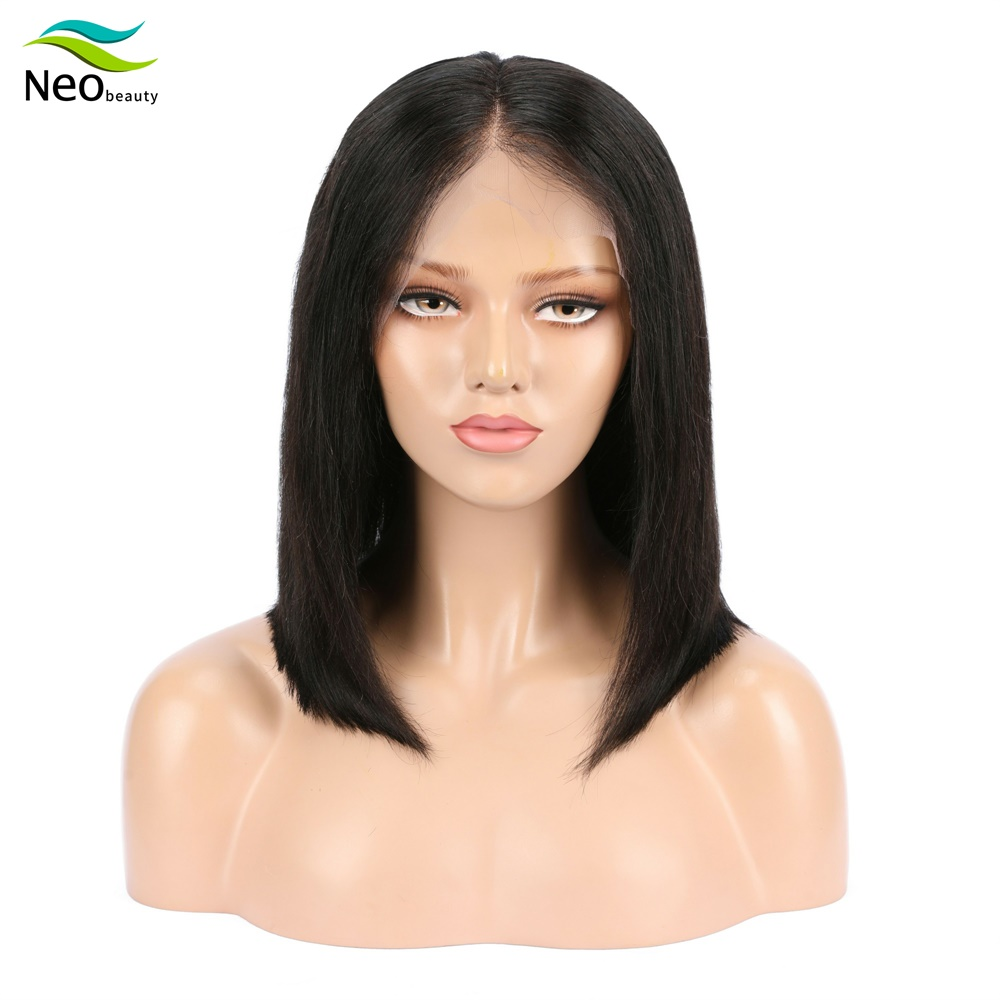 Cheap Bob Wigs Lace Front Human Hair Wigs 13x4 Pre Plucked 10A Remy Lace Wigs Human Hair Can Be Colored Perruque Cheveux Humain