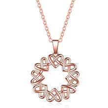 Rose Gold Color Love Heart Knot Pendant Necklace for Women Small Heart Charm Pendant Choker Necklace Girls Jewelry 2020 New rose gold color love heart knot pendant necklace for women small heart charm pendant choker necklace girls jewelry 2020 new