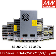 Taiwan Meanwell RS-15 25 LRS-35 50 75 100 150 200 350W 3.3V 5V 12V 15V 24V 36V 48V Single output Switching Power Supply LRS-350 valuable mean well original rs 150 15 15v 10a meanwell rs 150 15v 150w single output switching power supply