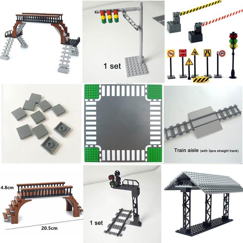 Основание для строительства дороги «сделай сам», пластиковые строительные блоки, кирпичи, плоская плитка, игрушки 2x2, совместимы со всеми бр...