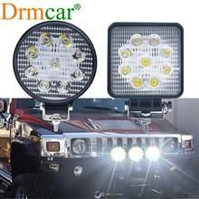 1 pièces 27W travail lampe voiture Led projecteur LED 12 volts lampes de travail led pour 4X4 ATV tout-terrain camions tracteur 24V antibrouillard