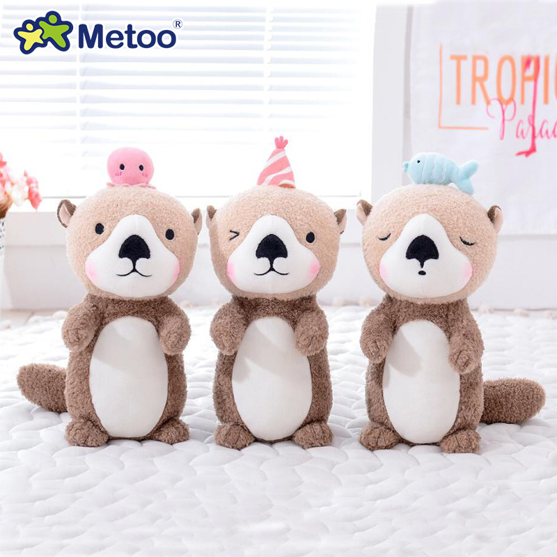 24cm Otter Metoo Doll Stuffed Toys Plush Animals Kids Toys For Girls Children Boys Kawaii Baby Plush Toys Cartoon Soft Toys