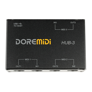 DOREMiDi HUB-3 MIDI 3X3 коробка USB MIDI интерфейс MIDI коробка MIDI контроллер адаптер конвертер